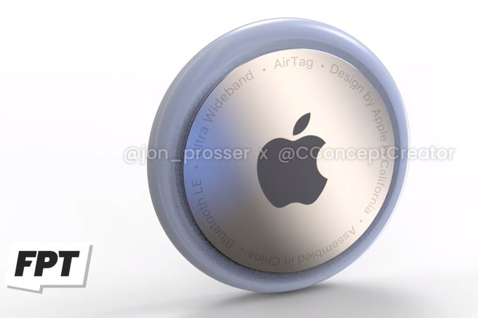 苹果AirTags最新谍照偷跑,类似圆形胸章设计