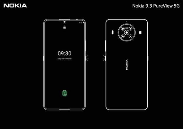 诺基亚9.3PureView渲染图曝光:采用屏下摄像头技术