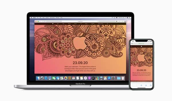 苹果官宣在印度推出在线商店,时间定于9月23日