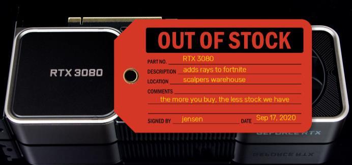 RTX3080显卡刚上架就秒空!还有一次机会抢到!