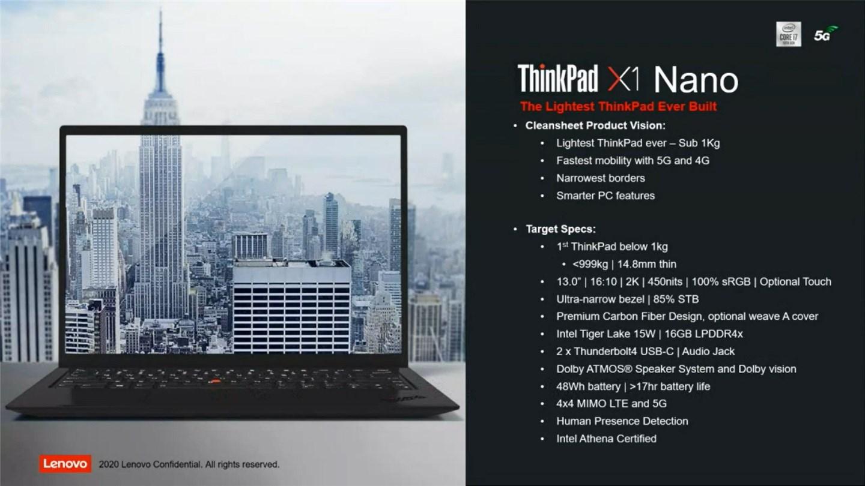 ThinkPad X1 Nano即将上市,机身仅重0.95kg