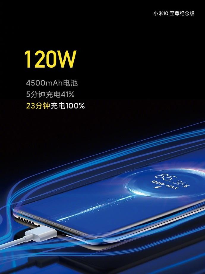 小米10至尊纪念版充电优化,新固件调整充电速度更快