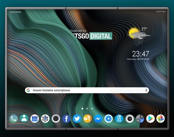 小米Z Fold折叠屏手机渲染图曝光,明年即将发布