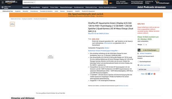 一加8T价格再爆,8+128GB版本4700元起售