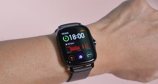 华米AmazfitGTS2手表采用金属机身设计,曜石黑版本图赏