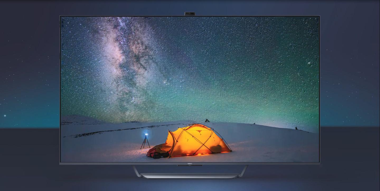 OPPO智能电视外观:颜值超高还有升降摄像头!