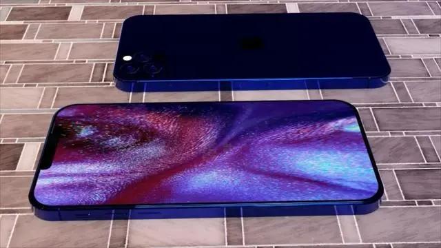 iPhone12Pro海军蓝概念图偷跑,小刘海屏+后置四摄模组
