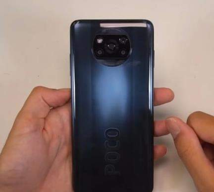 小米POCOX3外观最新曝光:挖孔+奥利奥设计