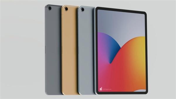iPad Air 4高清渲染图曝光!Face ID+窄框设计