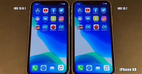 iOS13.7流畅度测试,iOS13.6.1和iOS13.7流畅度对比