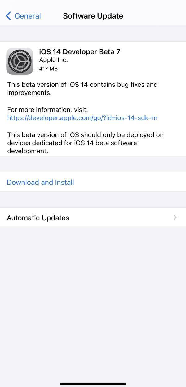 ios14beta7更新内容,ios14beta7描述文件下载