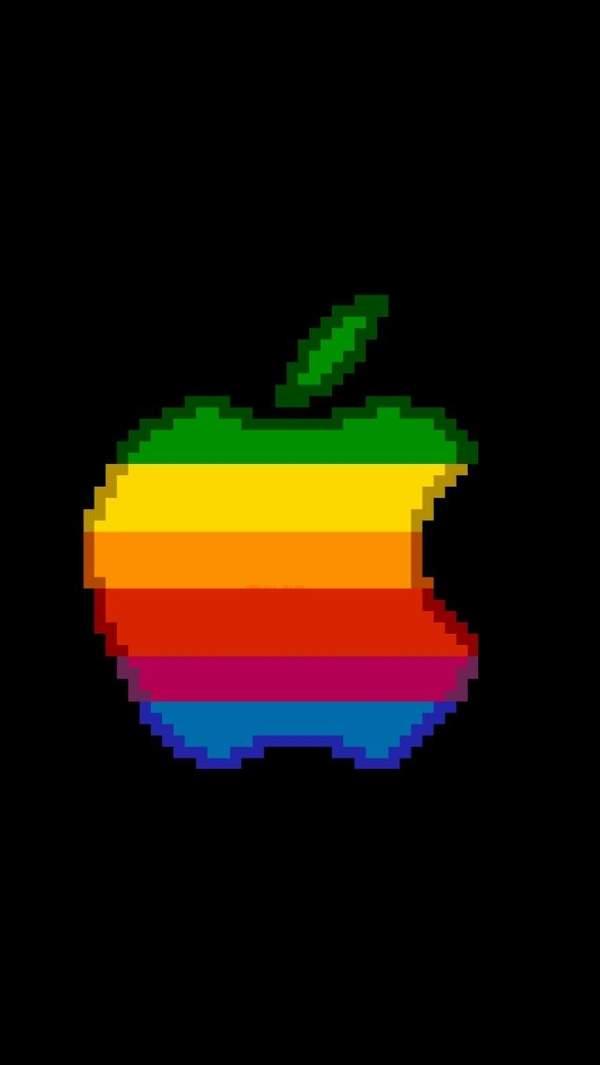苹果彩虹壁纸原图-苹果手机自带彩虹壁纸下载