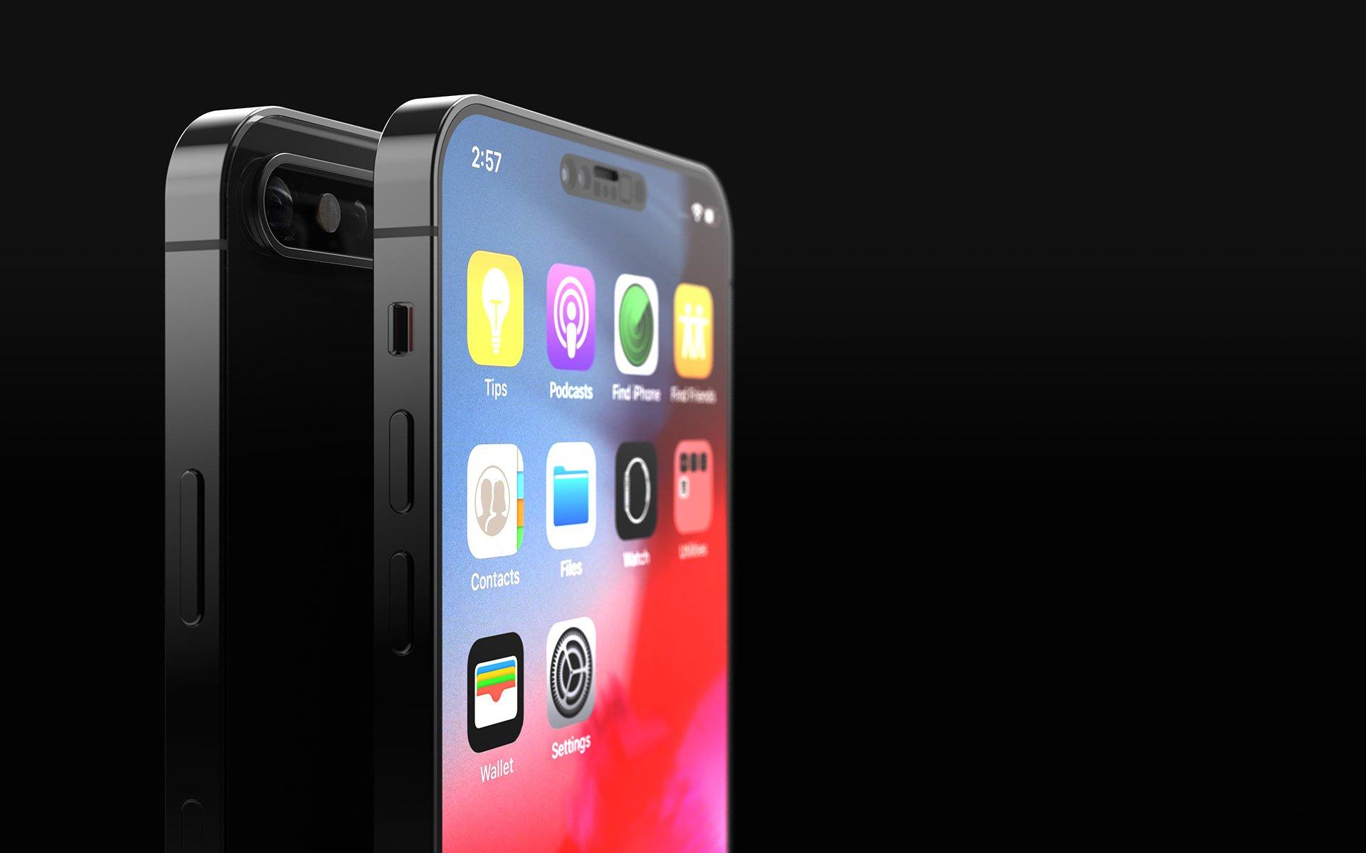 比iPhone12刘海还丑,iPhone13概念图曝光刘海辣眼睛