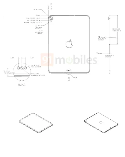 iPad2020设计图曝光,屏占比更高