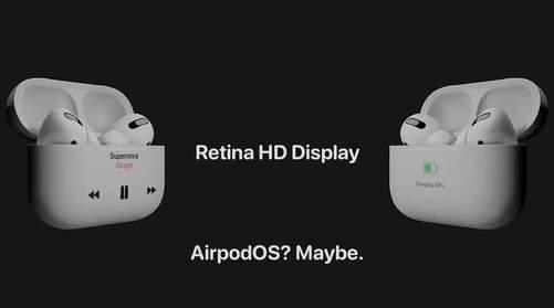 AirPods Pro 2概念图曝光,Retina HD屏幕或是最大亮点