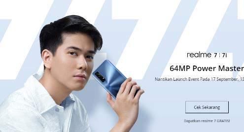 realme7i手机曝光:搭载90Hz高刷屏,将于9月17日发布