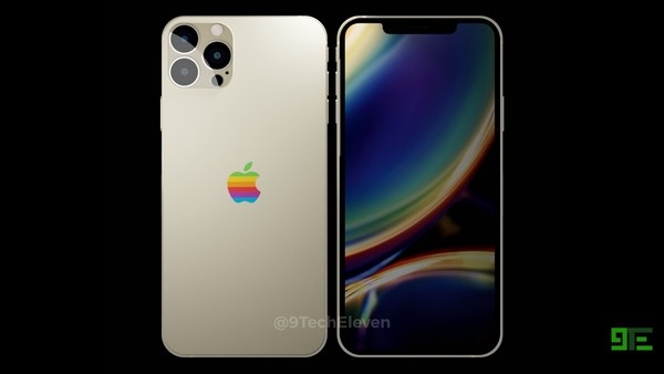 iPhone 12系列最新渲染图曝光,背部Logo是彩色的?