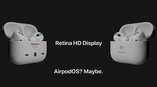 AirPods Pro 2概念稿曝光:机身增加屏幕?