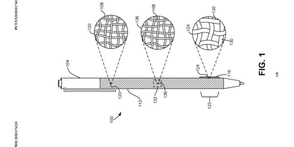 微软Surface Pen专利曝光:增加织物覆盖触笔表面