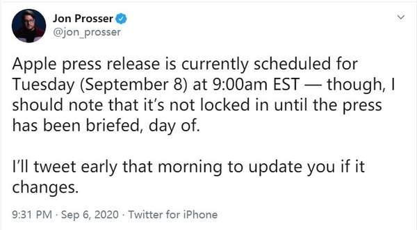iPhone12发布会真的来了,消息称暂定于9月8日