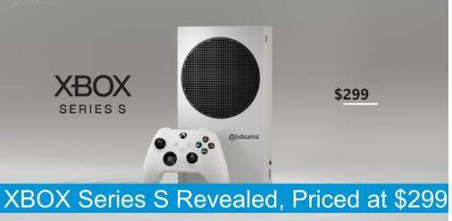 XboxSeries S外观售价曝光:搭载硕大圆形散热格栅约2044元