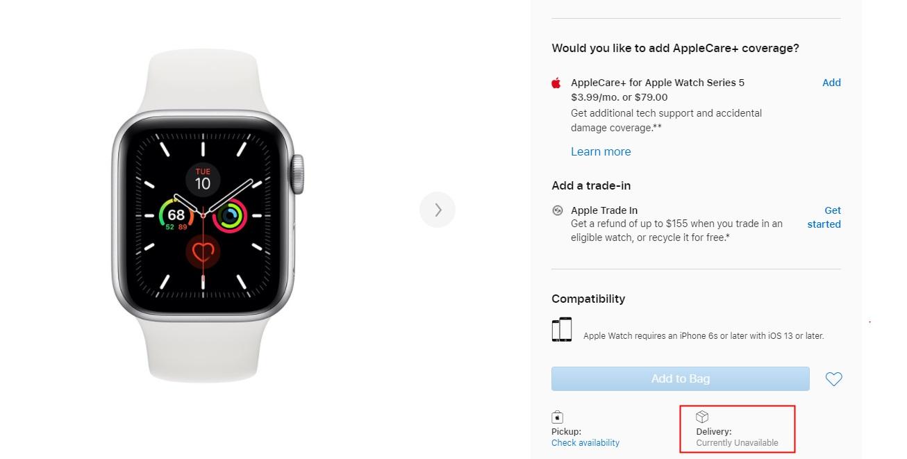 AppleWatchSeries6将发布,Series5等型号却不能买