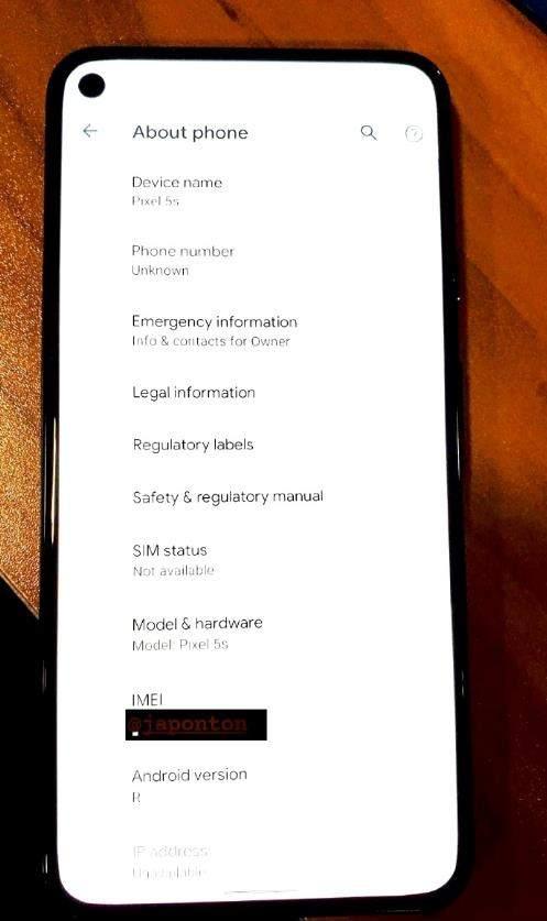 谷歌Pixel5真机曝光:单挖孔屏+后置指纹