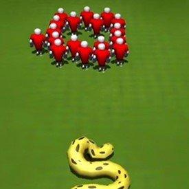 长蛇盘绕游戏